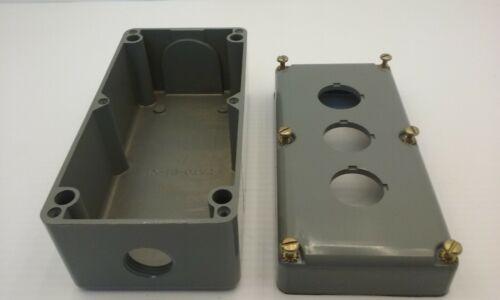Square D 9001ky3 3mm Control Station Unit Enclosure 3 Hole Aluminum Series B Nnb