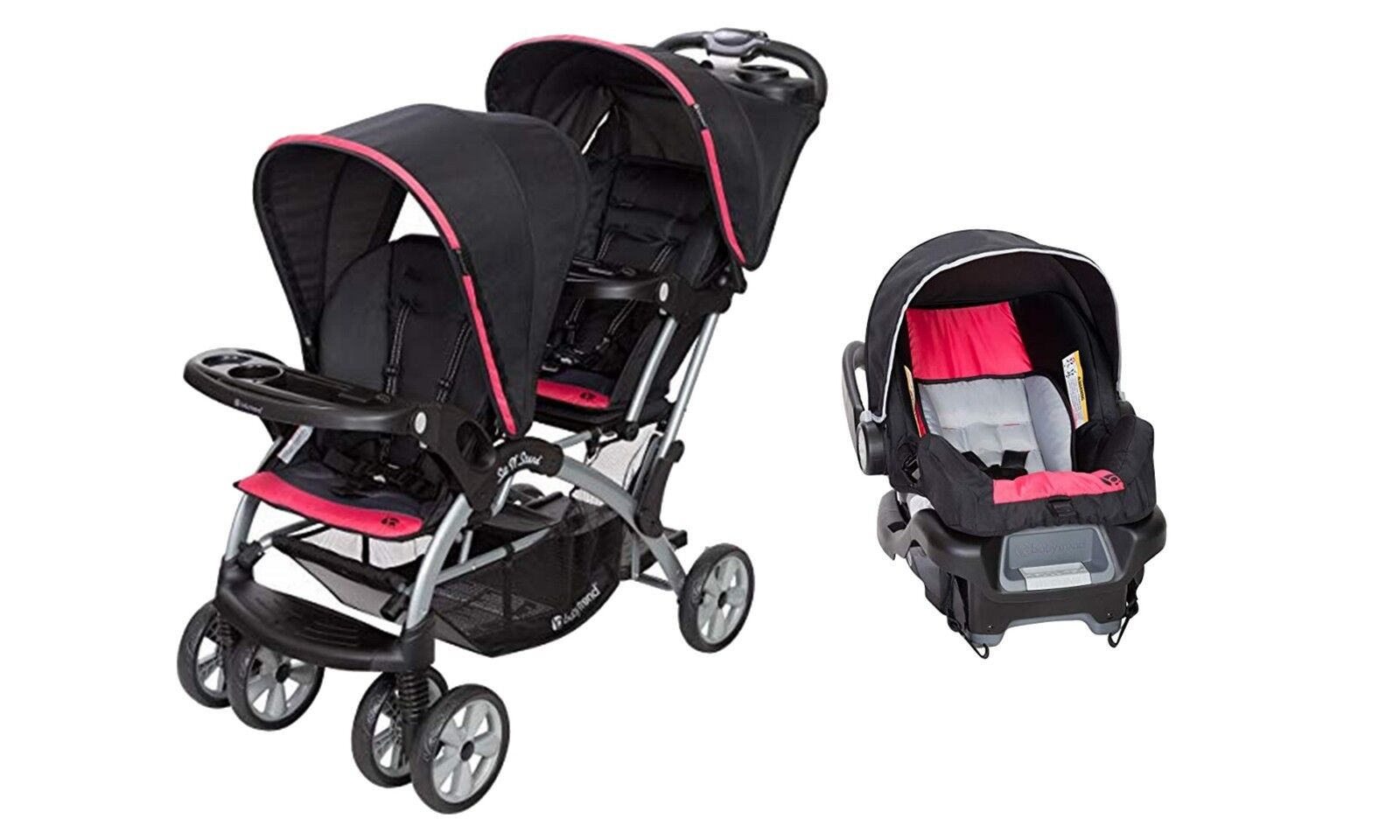 Double Stroller Baby Trend Sit n Stand with One Infant Car S