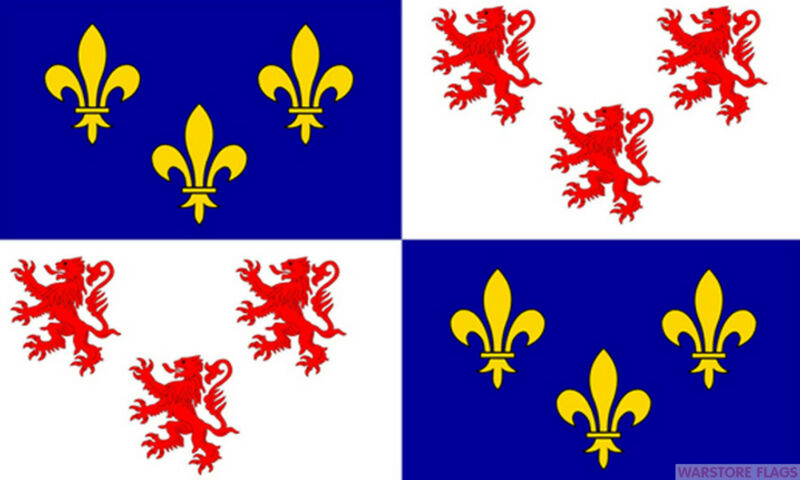 PICARDY 5x3 feet FLAG 150cm x 90cm Polyester fabric flags FRANCE FRENCH Amiens