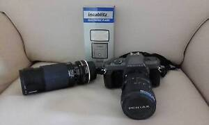 Pentax P30t SLR Camera and Accessories Alderley Brisbane North West Preview