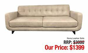 DONA LEATHER SOFA U-FRAME DESIGN BUTTONED BACK OUTSTANDING LOOK Ultimo Inner Sydney Preview