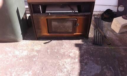 wood heater inbuilt $90 also freestander $120