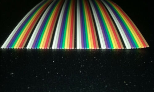 200Ft 60 Conductor 28awg Color Rainbow Ribbon Wire Cable