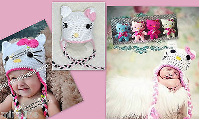 ★★★NEU Fotoshooting Kostüm 2 Tlg. Hello Kitty Set Mütze & Puppe 0-12 Monate★★AC