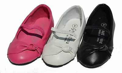 Girls Infant Toddler Baby Flats Slip On Bow Strap Ballet Shoes Casual Dress Roun - Ballet Flats Toddlers