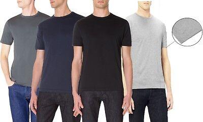 REAL HOXTON Ultra Soft, Premium Ultra Fine, Mercerised Cotton, Mens T-Shirt