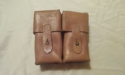 Yugoslavian SKS Leather Dual Cell Ammo Pouch Nice