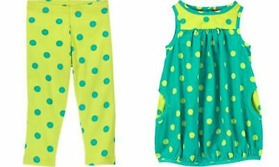 Gymboree Color Happy 12-18 Month Polka Dot Legging Corduroy Dress Outfit NWT