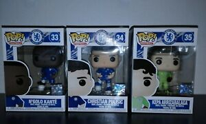 Brand New EPL Chelsea FC Pop Vinyl set of 3 London Toy Fair Exclusives