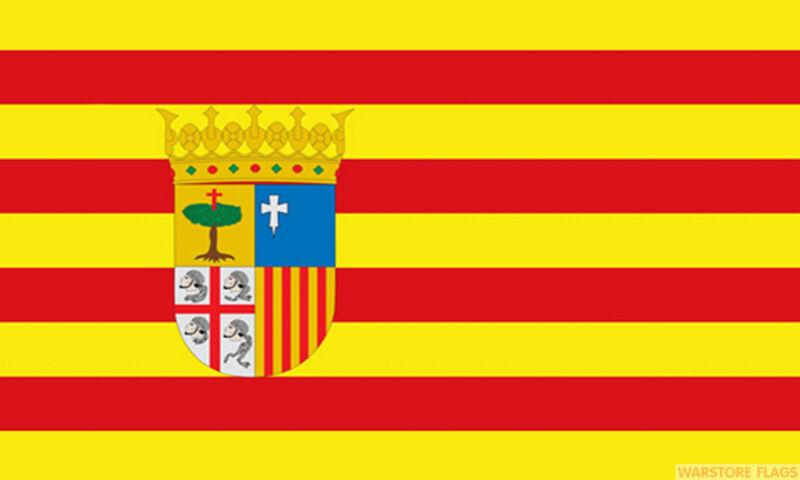ARAGON 5x3 feet FLAG 150cm x 90cm Polyester fabric flags SPAIN SPANISH