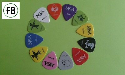 12 Plektren 12er Set Pics Plecks Picks Plektrum 0,58 0,71 0,81 1,2 1,5 mm