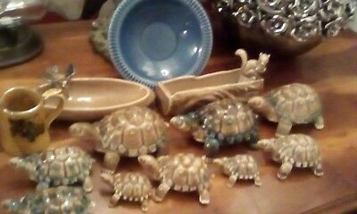 Wades Pottery Selection of Pin Dishes ,miniature jug, and Tortoises