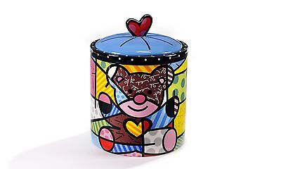 ROMERO BRITTO CYLINDRICAL COOKIE JAR - BEAR ** NEW **