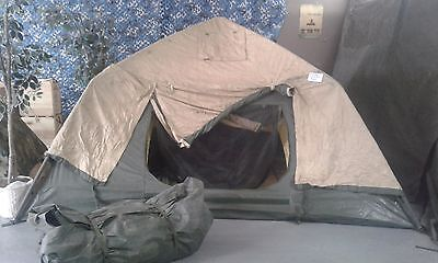 USGI MILITARY 10x10 SOLDIER 4-5 MAN CREW TENT SCT 2 LAYER W/ RAIN FLY