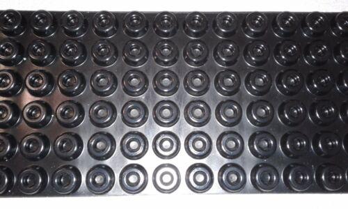 """72-Round Cabinet Black Rubber Case Speaker Feet Bumper, door stop .4x.88""""10x22mm"""