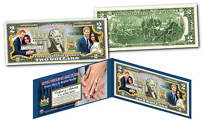 PRINCE HARRY & MEGHAN MARKLE Royal Wedding May 19th 2018 Official $2 U.S. Bill