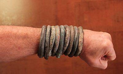 Mens Ladies Western Africa Bronze Copper Trade Bracelet Manillas 250 Years Old