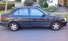 2001 Hyundai Accent Sedan- low kms, long reg, great condition Parkville Melbourne City Preview