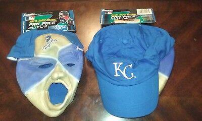Brand new Kansas City Royals MLB Fan Face Mask with Hat Franklin Halloween NWT  - Halloween Kansas City