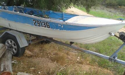 All Licenced trailer, boat and complying 5 HP  motor
