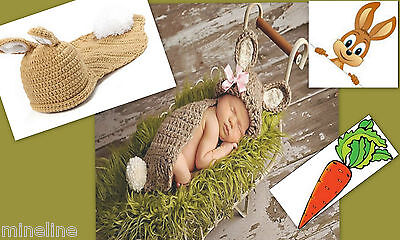otoshooting Kostüm Kleiner Hase beige 0-6 Monate ★★★X (Hase Baby Kostüm)