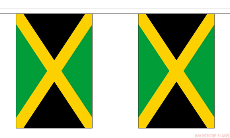 JAMAICA 9 METRE BUNTING 30 FLAGS flag Jamican Kingston Montego bay