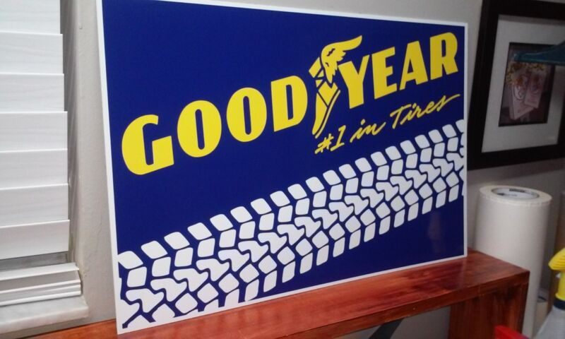 """GOOD YEAR Tires Sign  16"""" x 24"""""""