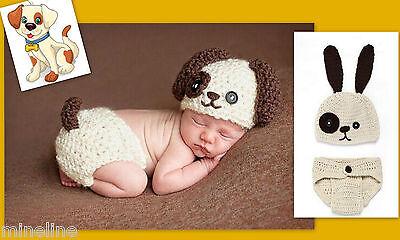 ★★★ NEU Baby Fotoshooting Kostüm Kleiner Hund beige braun 0-6 Monate★★★Nr.Y ()