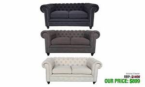 VICTORIA TWO SEATER CHESTERFIELD STYLE IN THREE DIFFERENT COLOURS Granville Parramatta Area Preview