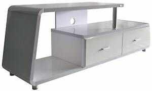 TV Stand Cabinet Unit Furniture - High Gloss White, 2 Drawers Lansvale Liverpool Area Preview