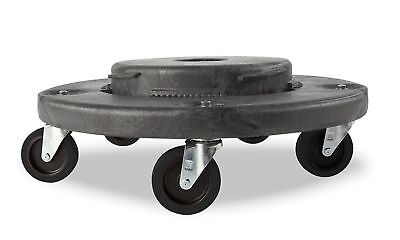 Trash Can Dolly Heavy-duty Plastic 5 Casters Gray