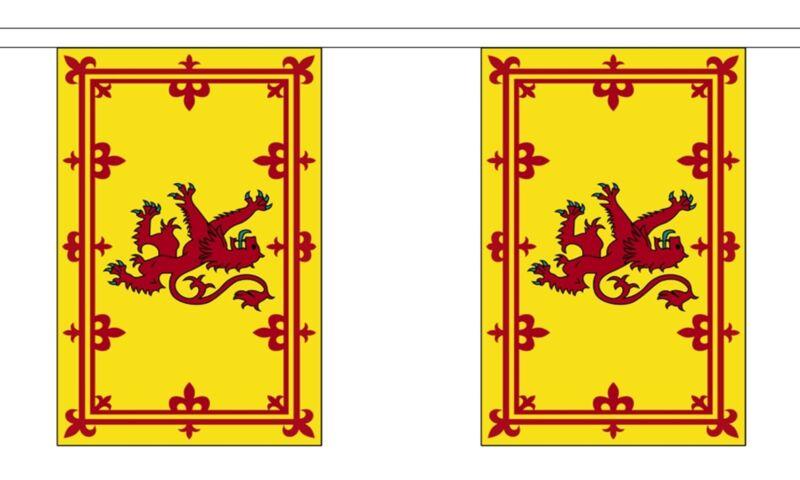 SCOTLAND LION 3 METRE BUNTING 10 FLAGS flag 3M SCOTTISH