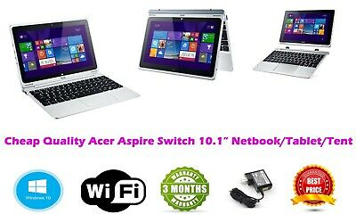 """Cheap Acer Aspire Switch 2 in 1 Windows 10 Tablet 10.1"""" 1.33GHz 2GB 64GB FHD"""