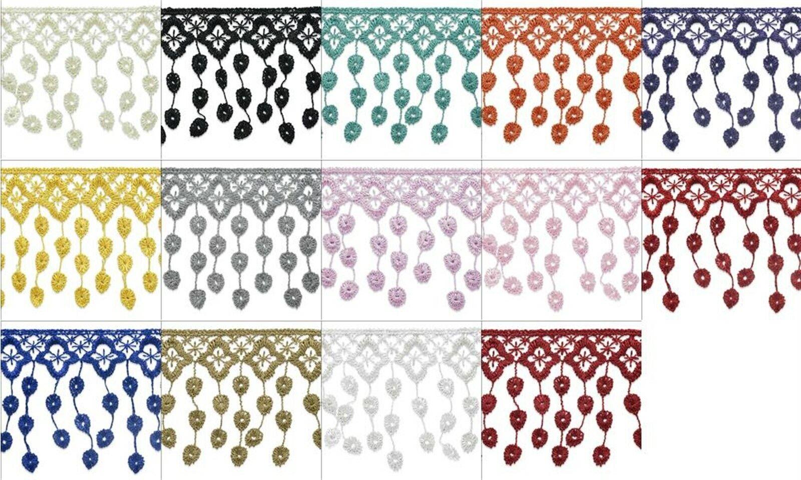 Expo 5 yards of Paillette Sequin Bead Fringe Trim