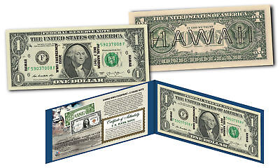 HAWAII $1 Overprint WWII Emergency Pearl Harbor Genuine Legal Tender NEW $1 Bill