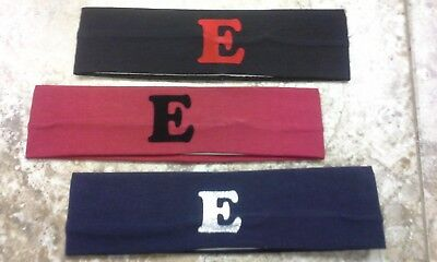 new cotton Sweatbands with Any initial for girls customize hand made hot seller