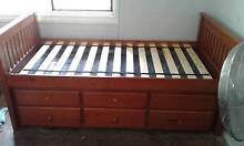 SINGLE WOODEN BED WITH TRUNDLE Inala Brisbane South West Preview