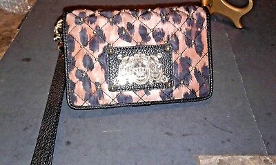 JUICY COUTURE STUDDED CHEETAH PRINT WRISTLET/WALLET-NEW LOWER PRICE