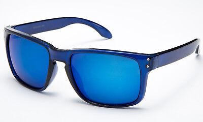 Flashing Sunglasses (Retro Blue Ocean Sunglasses Flash Mirror Popular Sport Lens Keyhole New)