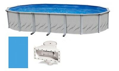 Galleria Above Ground Oval Swimming Pool w/ Liner & Skimmer Kit (Choose Size)