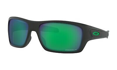 Oakley Turbine POLARIZED Sunglasses OO9263-4563 Matte Black W/ PRIZM Jade Lens