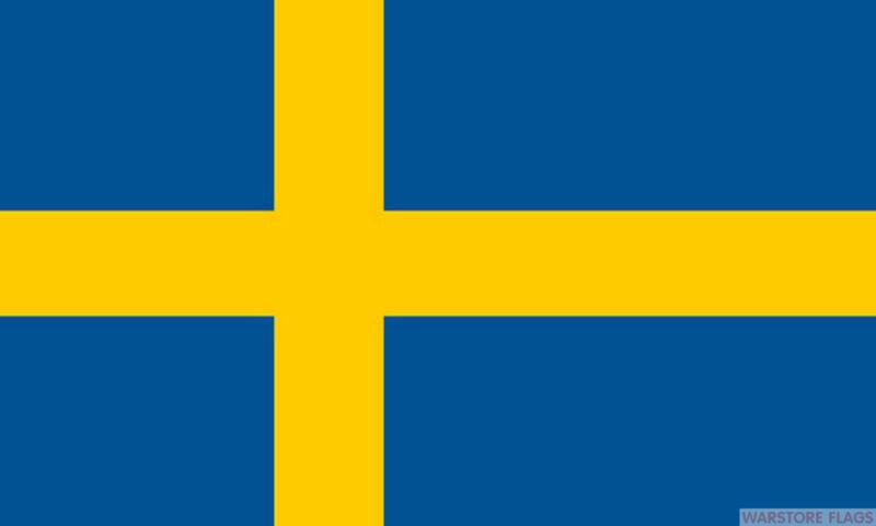 SWEDEN NYLON DELUXE QUALITY FLAG 210 DENIER SWEDISH SVERIGE