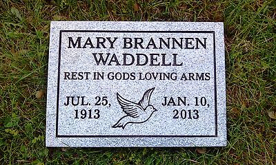 Granite Headstone Grave Marker- Gray- multiple engraving options flat or grass