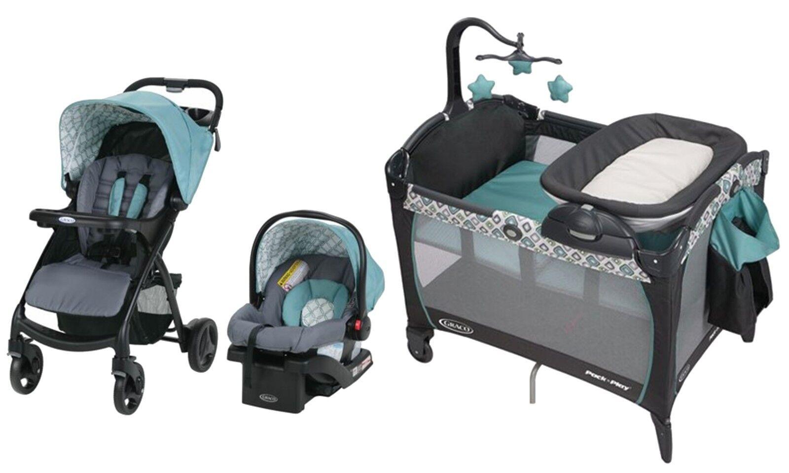 Graco Baby Stroller Infant Car Seat Playard Crib w/ Changer