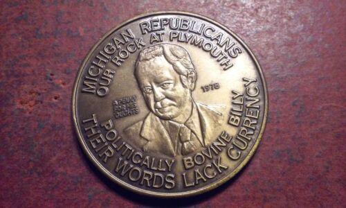 MICHIGAN REPUBLICANS Politically Bovine Billy Their Words Lack Currency COIN