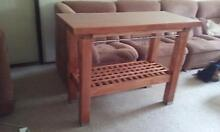 solid timber kitchen island bench trolley Forestdale Logan Area Preview