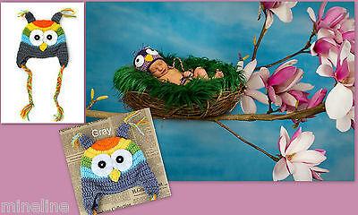 Jungen Eule Kostüm (★★★ NEU Baby Fotoshooting Kostüm Kleine Regenbogen Eule 0-6 Monate★★★Nr.N)