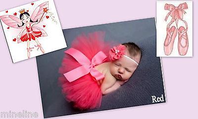 ★★★NEU Baby Fotoshooting Kostüm Tütü & Haarband Elfe Ballerina 0-6 Monate★★★Nr.B