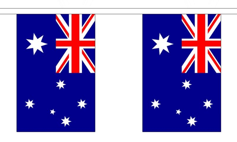 AUSTRALIA 3 METRE BUNTING 10 FLAGS flag 3M AUSTRALIAN