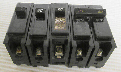 Mixed Lot Of 4 Challenger Circuit Breakers 2 C120 1 Type C 20a 1 C220